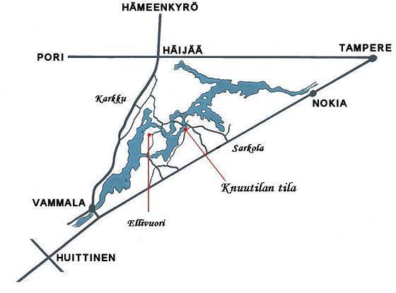 Kartta Knuutilan Tila